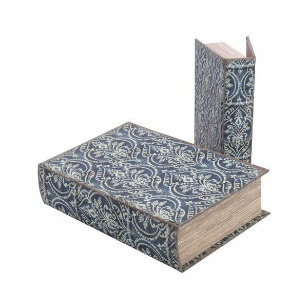 Scatola libro blue Brocade - Set