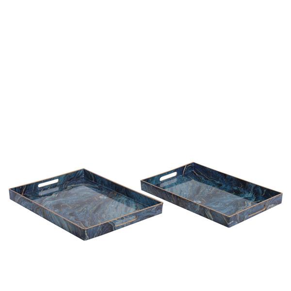 Vassoio Blue Marble - Set 2