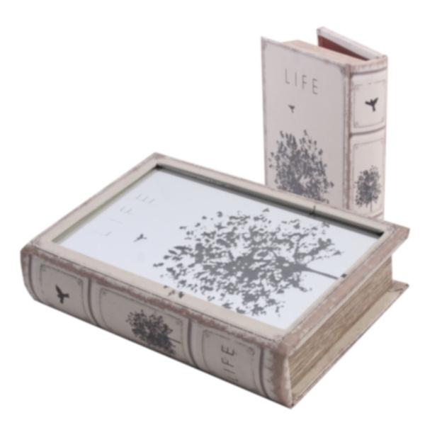 Box Book Mirror Tree - Set 2