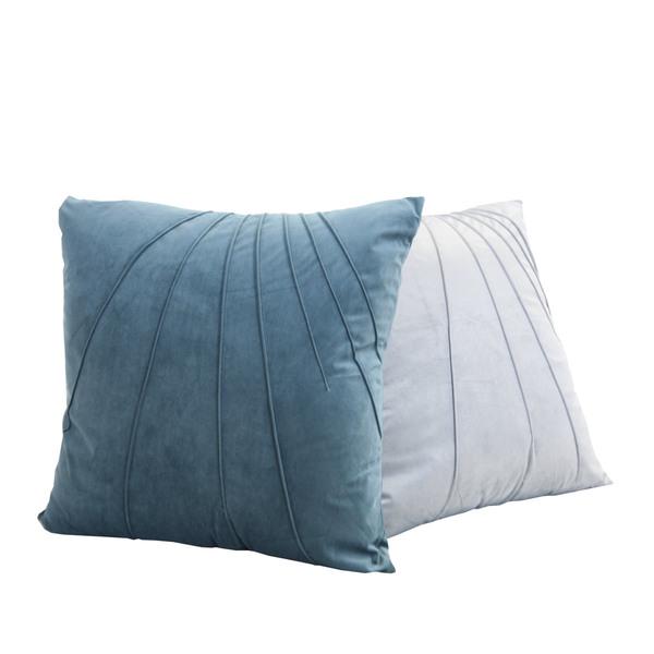 Blue Linea Cushion - 2 Col Ass