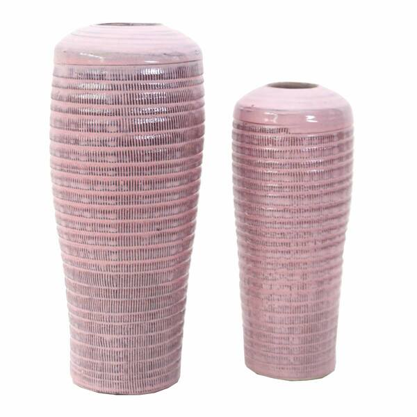 Vases Petra Square Rouge - Set 2