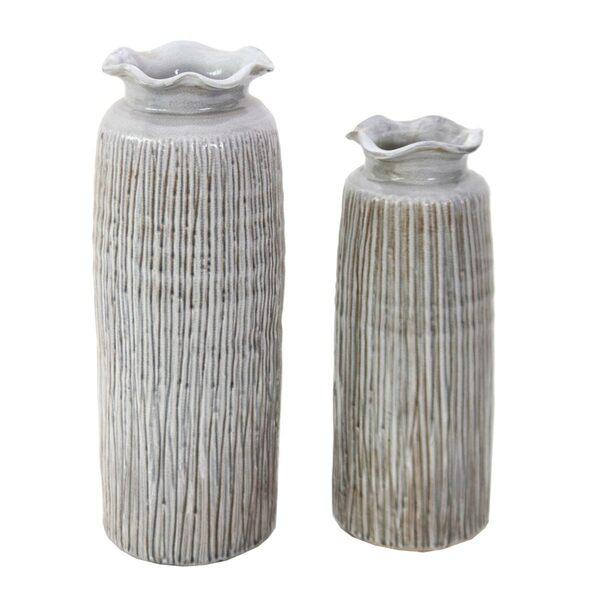 Vases Petra Grey Tall - Set 2