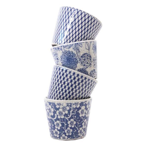 Blue Nuance Vases - Set 4