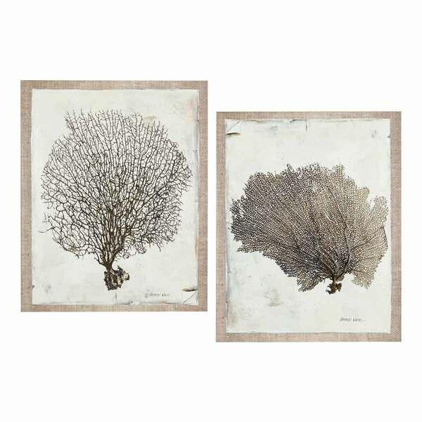 Brown Coral Paintings - Set 2