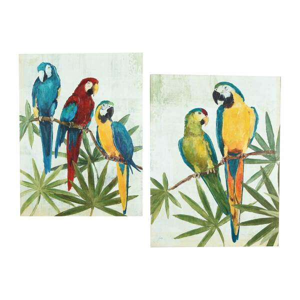 Parrots Paintings - Set 2