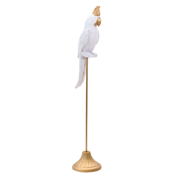 White Parrot Sculpture - L