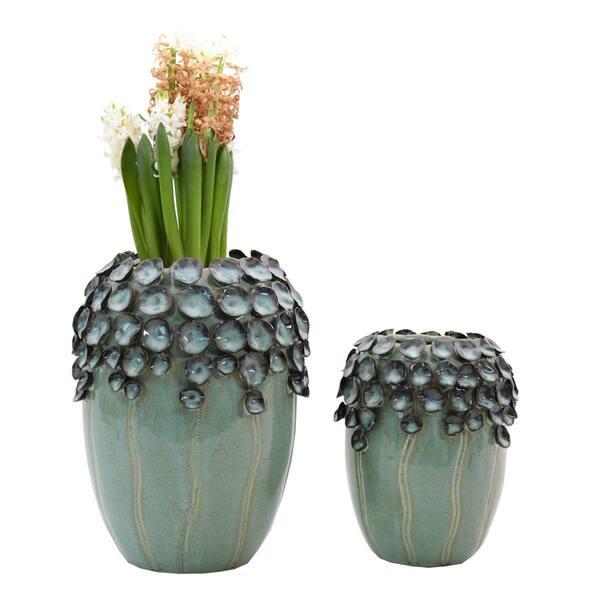 Blooming Green Vases - Set 2