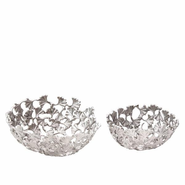 Bowls Silver Ginko - Set 2