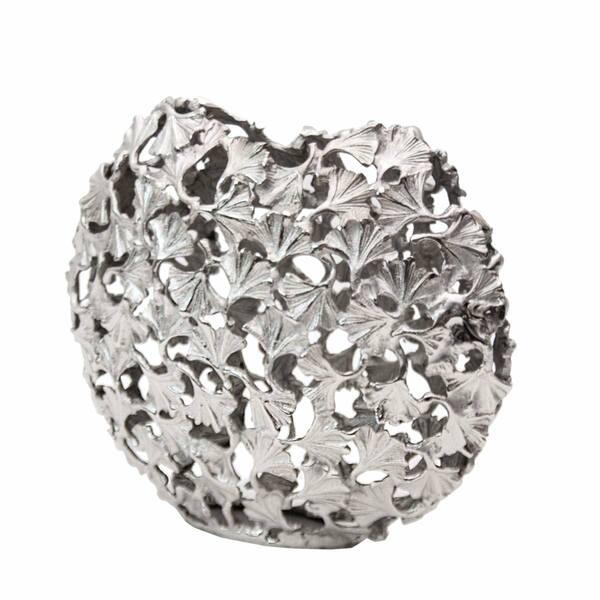 Silver Ginko Vase