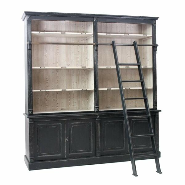 English Bookshelf Black
