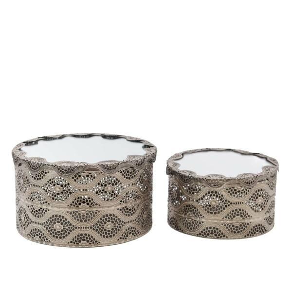 Arabesque Mirror Round Boxes - Set 2