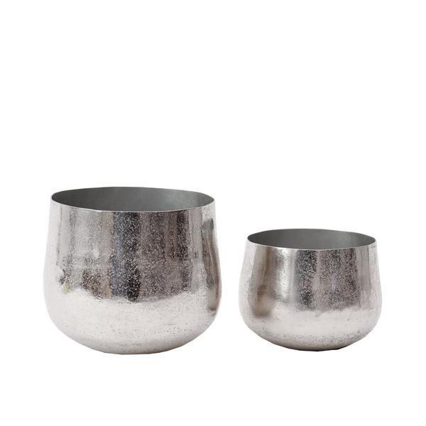 Aurora Silver Vases S - Set 2