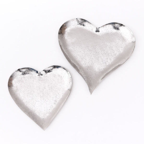 Trays Aurora Hearts Silver - Set 2
