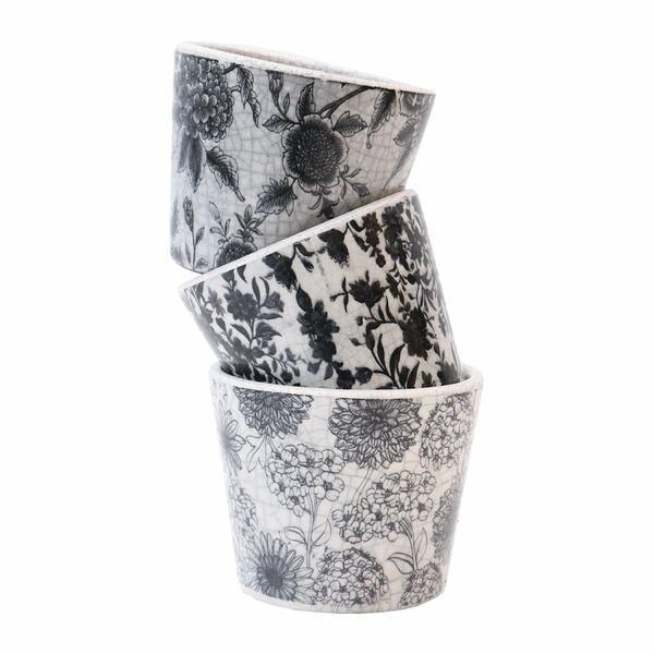 Vintage Black Vases - Set 3