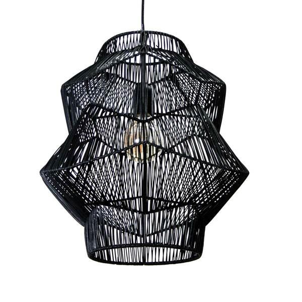 Organic Black Pendant Lamp - S
