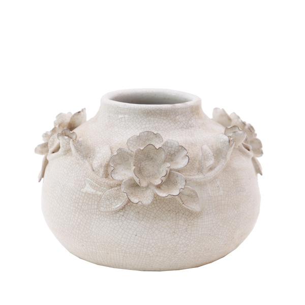 Artefiore Round White Vases