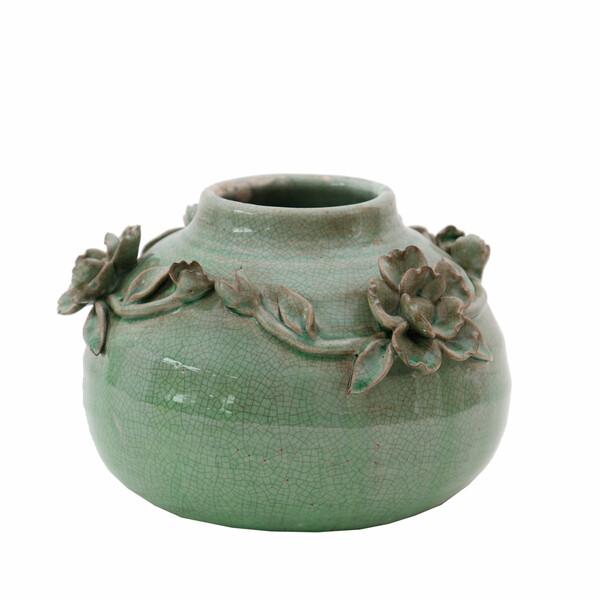 Artefiore Round Green Vases