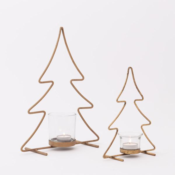 Xms Tree candle holder - Set 2