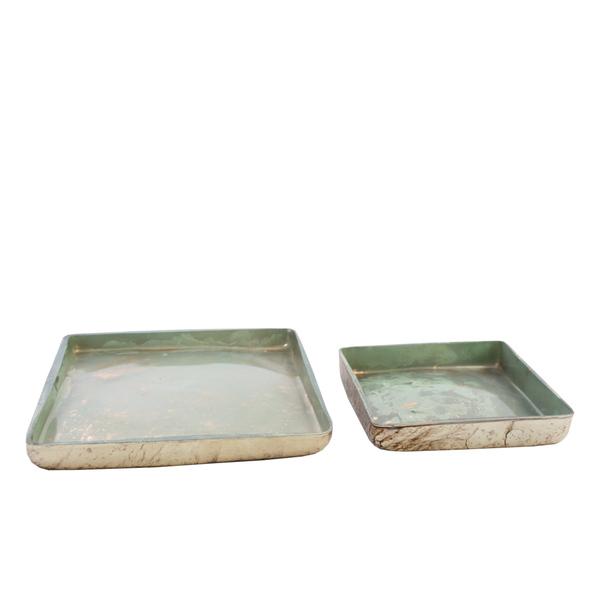 Contenitori Glass Green Tone - Set 2