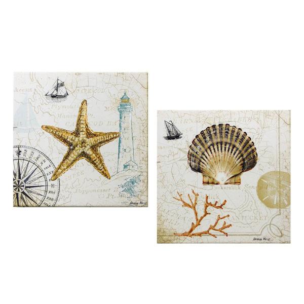 Sea Treasures Paintings - Set 2