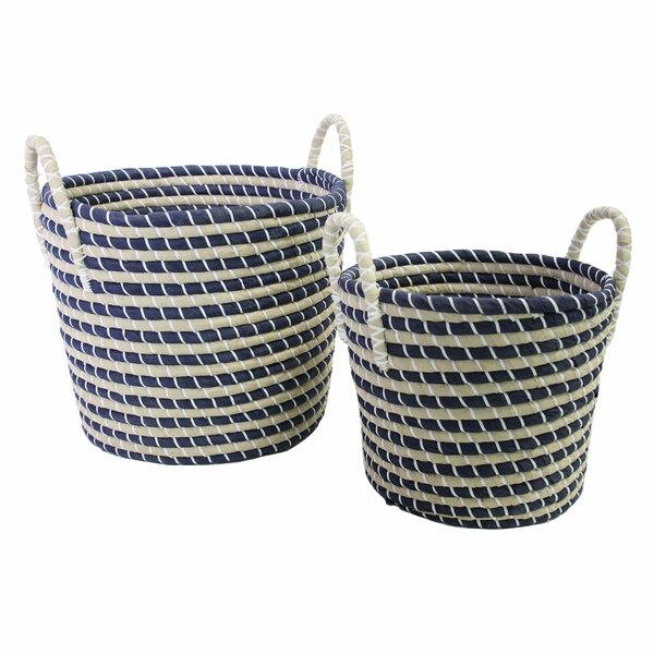 Basket With Handwork Handles - Set 2