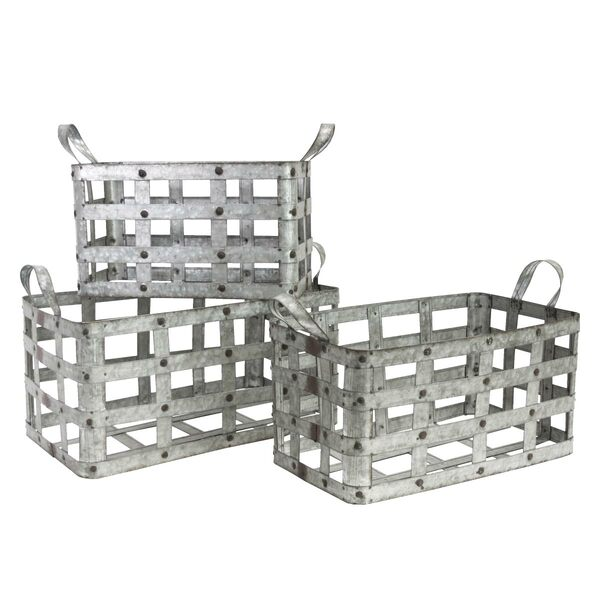 Box Storage Metal Zinc - Set 3
